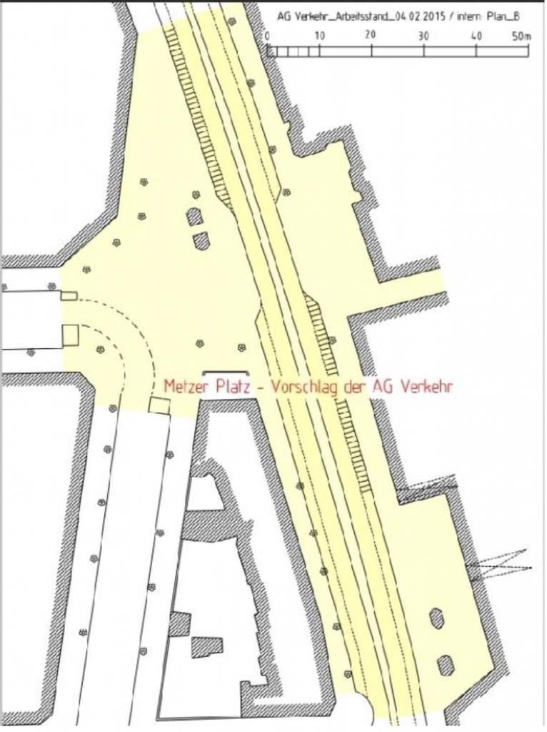 Metzer Platz - Vorschlag der AG Verkehr